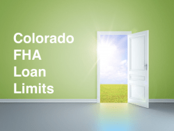 Colorado FHA Loan Limits