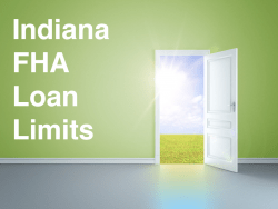 Indiana FHA Loan Limits
