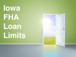 Iowa FHA Loan Limits