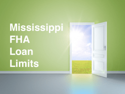 Mississippi FHA Loan Limits