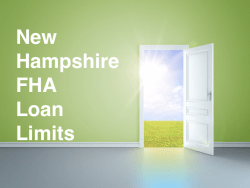 New Hampshire FHA Loan Limits