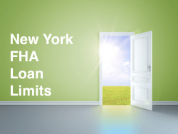 New York FHA Loan Limits
