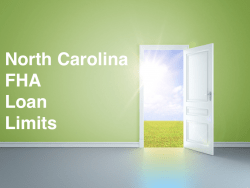 North Carolina FHA Loan Limits