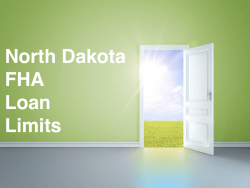 North Dakota FHA Loan Limits