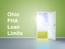 Ohio FHA Loan Limits