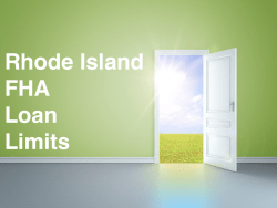 Rhode Island FHA Loan Limits