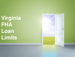 Vermont FHA Loan Limits