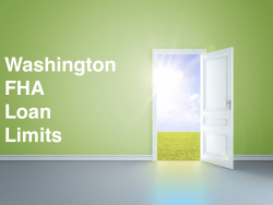 Washington FHA Loan Limits