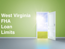 West Virginia FHA Loan Limits