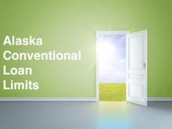 Alaska Conventional Loan Limits
