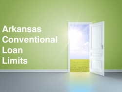 Arkansas Conventional Loan Limits