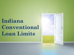 Indiana Conventional Loan Limits