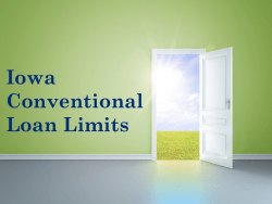 Iowa Conventional Loan Limits