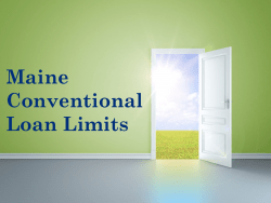 Maine Conventional Loan Limits