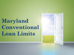 Maryland Conventional Loan Limits