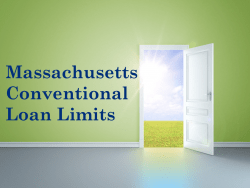 Massachusetts Conventional Loan Limits