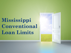 Mississippi Conventional Loan Limits