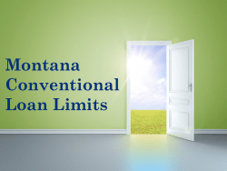 Montana Conventional Loan Limits