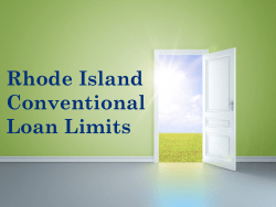 Rhode Island Conventional Loan Limits