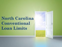 North Carolina Conventional Loan Limits